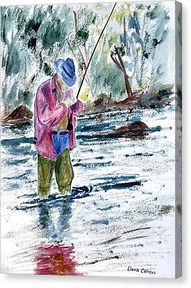 Fly Fishing The South Platte River Canvas Print by Dana Carroll