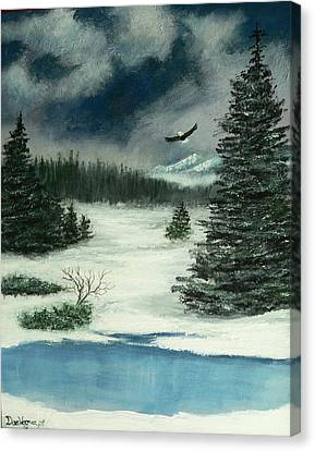 Canvas Print featuring the painting Fly For Me by Dan Wagner