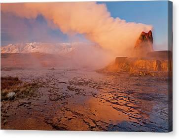 Fly Geyser In The Black Rock Desert Canvas Print