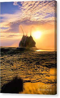Fly Geyser Sunrise Canvas Print by Inge Johnsson