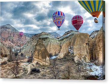 Fly Into Kappadokia Canvas Print by Juergen Klust
