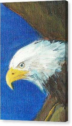 Canvas Print featuring the painting Fly Like The Eagle by Jane  See