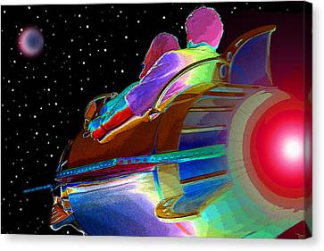 Fly Me To The Moon Canvas Print by David Lee Thompson