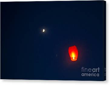 Fly Me To The Moon Canvas Print by Howard Tenke