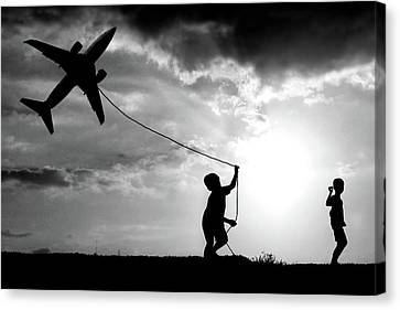Passenger Plane Canvas Print - Fly My Plane by