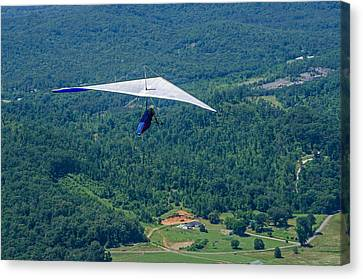 Canvas Print featuring the photograph Flyin High by Susan  McMenamin