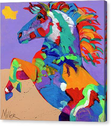 Flyin Hooves Canvas Print by Tracy Miller