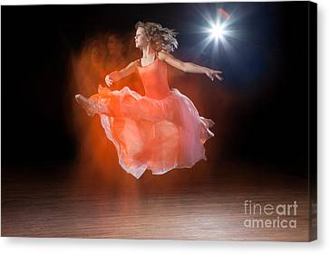 Flying Ballerina Canvas Print by Cindy Singleton