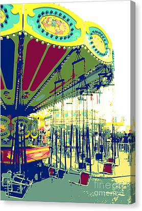 Canvas Print featuring the digital art Flying Chairs by Valerie Reeves