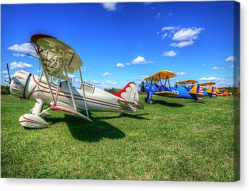Canvas Print featuring the photograph Flying Circus by Michael Donahue