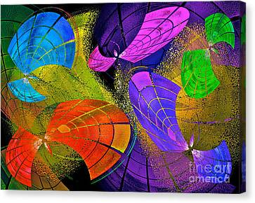 Flying Colors Canvas Print by Gwyn Newcombe