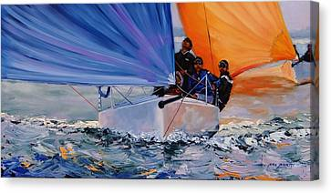 Flying Colors Two Canvas Print by Laura Lee Zanghetti