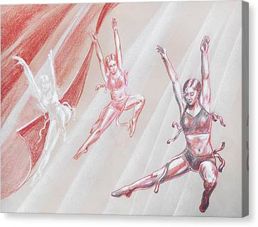 Flying Dancers  Canvas Print by Irina Sztukowski