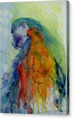 Flying Feathers Canvas Print by Lori Ippolito