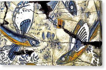 Flying Fish No. 3 - Study No. 2 Canvas Print by Steve Bogdanoff
