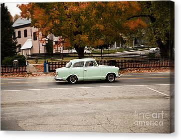 Flying Ford Anglia Canvas Print