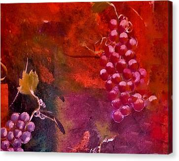 Flying Grapes Canvas Print by Lisa Kaiser