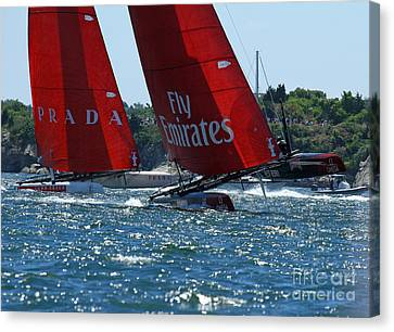 Flying Hulls Canvas Print by Butch Lombardi