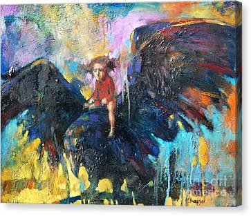 Clothed Canvas Print - Flying In My Dreams by Michal Kwarciak