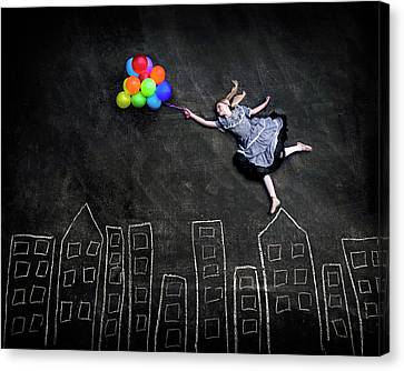 Flying On The Rooftops Canvas Print