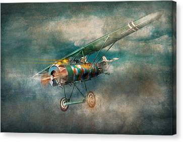 Flying Pig - Acts Of A Pig Canvas Print by Mike Savad