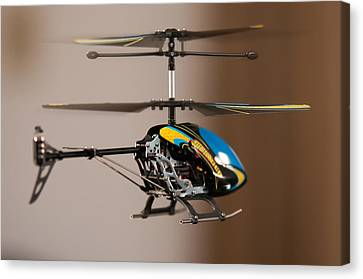 Pleasure Driving Canvas Print - Flying Rc Helicopter by Alex Grichenko