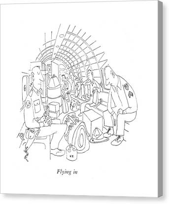 Flying Canvas Print by Saul Steinberg