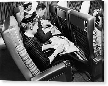 Flying Scandinavian Airlines In The 1960s Canvas Print