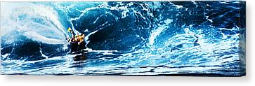 Flying Sponger At Pipeline Canvas Print by Ron Regalado