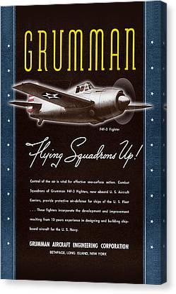 Grumman Flying Squadrons Up Canvas Print