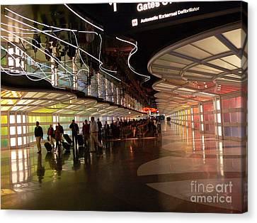 Flying Through Ohare Canvas Print by David Bearden
