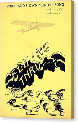 Flying Thru Canvas Print by Mel Thompson