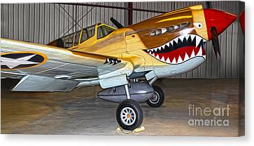 Flying Tiger - 02 Canvas Print by Gregory Dyer