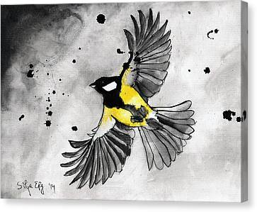 Flying Tit Canvas Print by Silja Erg