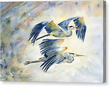 Flying Together Canvas Print by Melly Terpening