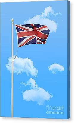 Flying Union Jack Canvas Print by Amanda Elwell