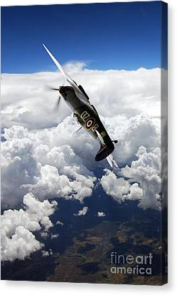 Flying With A Legend  Canvas Print