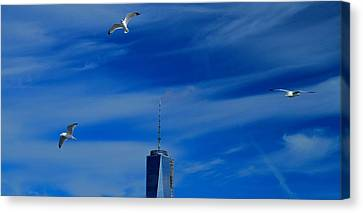 Flyover One World Trade Center Canvas Print by Dan Sproul
