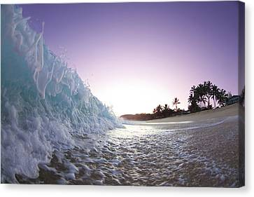 Foam Wall Canvas Print by Sean Davey