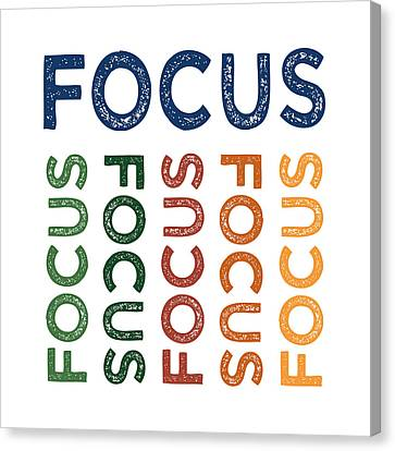 Focus Cute Colorful Canvas Print