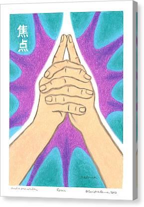 Focus - Mudra Mandala Canvas Print