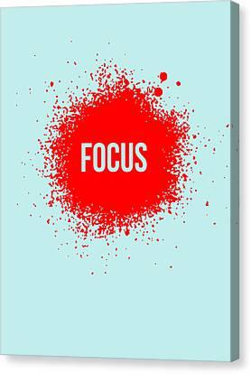 Focus Splatter Poster 2 Canvas Print by Naxart Studio