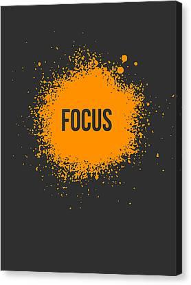 Focus Splatter Poster 3 Canvas Print