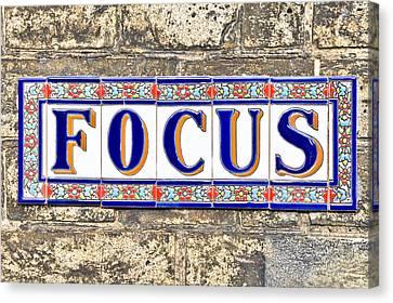 Concentration Canvas Print - Focus by Tom Gowanlock