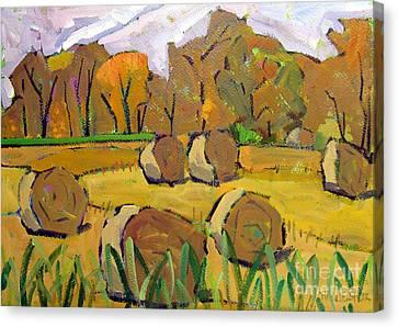 Fodder Bales Canvas Print by Charlie Spear