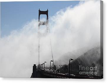 Fog Across The Bridge Canvas Print by Don Gonsalves Jr