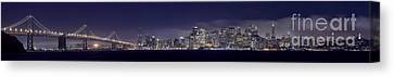Fog City San Francisco2 Canvas Print by Mike Reid
