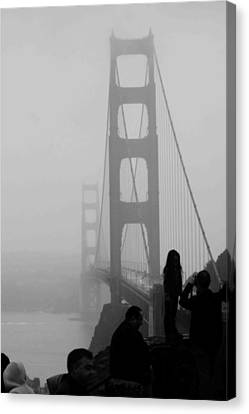 Fog Horn Kind Of Day Canvas Print by Kandy Hurley