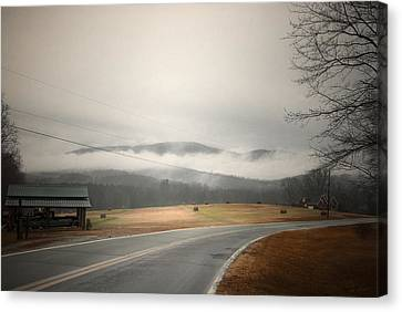 Fog In The Hollow Canvas Print by Cindy Rubin