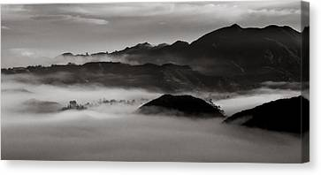 Fog In The Malibu Hills Canvas Print by Joe Doherty